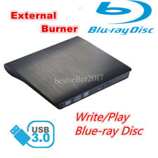USB 3.0 3D Blu-Ray Writer Player RW External DVD CD Burner Drive Win Mac