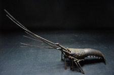 Japanese Antique Ise-Ebi Spring Lobster Iron Figure All Joints Movable Meiji