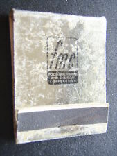 FMC FOOD MACHINERY AND CHEMICAL CORPORATION MATCHBOOK