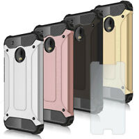 Mobile Cover Armor For Motorola Moto G5 Plus with SCREEN Protector Hybrid Case