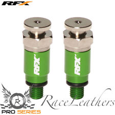 RFX GREEN KAWASAKI MOTO-X BIKE FORK BLEEDERS KX/KXF/KDX/KLX 125/200/250/450/500