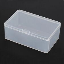 1Pcs Rechteck Kunststoff Aufbewahrungs Boxen mit Deckel Transparent Schmuck