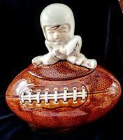 Vintage McCOY POTTERY 1970's Football COOKIE JAR
