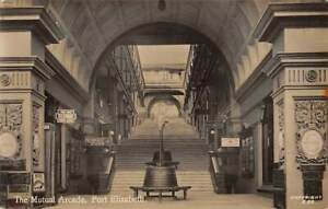 PORT ELIZABETH, SOUTH AFRICA. THE MUTUAL ARCADE, STORES, REAL PHOTO PC 1907-20