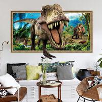 3D False Window Dinosaurs Wall Sticker Bedroom Removable Decor Art Decal ST