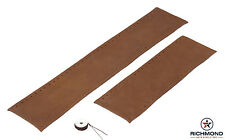 2003-2007 Ford F250 F350 King Ranch -Leather Steering Wheel Cover 2-Piece