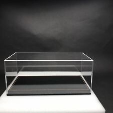 New Acrylic Display case show case W Black PU leather base for 1/18 Car model