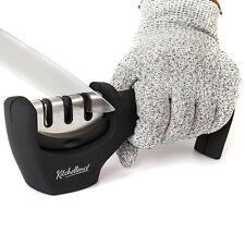 Kitchellence Kitchen Knife Sharpener 3-Stage Knife Sharpening Tool Helps Repair