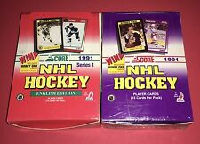 Lot Of(2)1991 Score Hockey English Series 1 Boxes 72 Packs