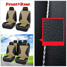 PU Leather Seat Cover Full Set Front Back Protector Cover For 5-Seats Car SUV