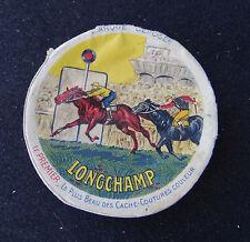 Boite carton Cache-coutures LONGCHAMP hippisme horse race Pferderennen