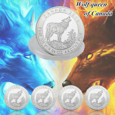 WR Queen Of Canada & Wolf Set 5pcs Silver Folil  Collection Coin Gifts