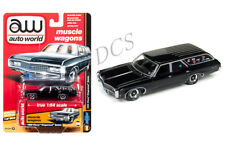 AUTO WORLD  MUSCLE WAGONS 1969 CHEVROLET KINGSWOOD ESTATE BLACK 1/64  AW 64142