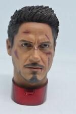 1/4 Escala Escultura de cabeza de Tony Stark dañado para MK43 MK45 Hot Toys T800