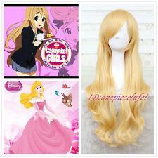 K-on! Tsumugi Kotobuki/Sleeping Beauty 75cm long blonde wavy Cosplay wig