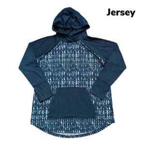 2XL XXL LuLaRoe Amber Hoodie Ikat Tie Dye White Navy Blue NWT