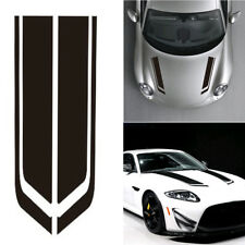86cm Car Black Racing Sports Strip Racing Hood Decal Auto Vinyl Bonnet Stickers
