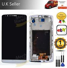 Replacement LCD Digitizer Touch Screen For LG G3 D855 D850 Frame White Assembly