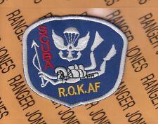 ROKAF Korean Air Force Airborne Para Rescue SCUBA MFF patch 3 inch