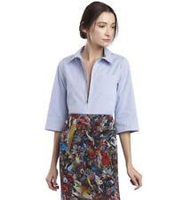 "Alice + Olivia Women's ""Diana"" Zip-Front Cropped Shirt Size M EUC"
