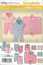 Infants Pants Diaper Cover Hoody Changing Pad & Body Suit Simplicity 3766 XXS-L