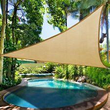 24' x 24' x 24' Sun Shade Sail Triangle, Sand Outdoor Canopy for Patio Lawn Yard