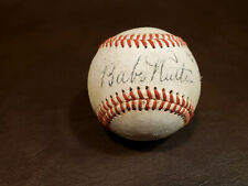 Babe Ruth / Lou Gehrig Red Stitched Autographed Baseball Reprint