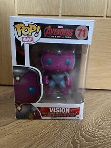 Vision Funko Pop #71 Avengers Metallic Marvel Rare Underground Toys