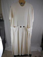 WOMANS NATURAL UNDYED COTTON DESIGNER DRESS MAXALTO PITTSBURGH PLUS 1X 2X