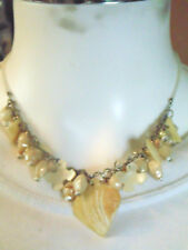 Beige Shell Charms Necklace