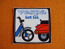 alter VESPA ist in Aufkleber sticker pegatina decal autocollant Moto Piaggio
