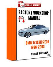 >> OFFICIAL WORKSHOP Manual Service Repair BMW Series 5 E39 1996 - 2003