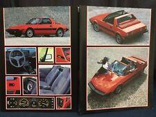 Rare Catalogue 1982 FIAT X1/9 Designer Automobile BERTONE !!!