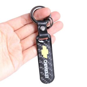 CHEVROLET Carbon Fiber Car Key Ring Keychain Keyfob for Camaro Silverado Impala