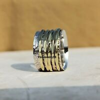 925 Sterling Silver Spinner Ring Meditation Ring Statement Ring Jewelry A363