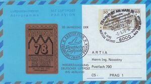 (44512) Germany Aerogramme  NAPOSTA 2 May 1978