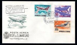 San Marino - 1963 Contemporary Aircraft First Day Cover
