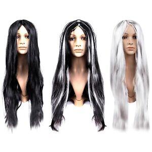 Long 70cm Straight Woman's Fancy Dress Wig Black, Blonde, Silver (Choose)