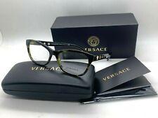 NEW VERSACE Eyeglasses OVE3225 5183 GREEN TORTOISE  54-16-140MM /NIB ITALY