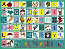 ABC, Green Alphabet Rug 100 x 133 cm