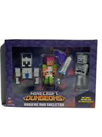 "Minecraft Mini-Figures 1/"" Sniper Duel Skeleton Gold Achievement Series 16 Mojang"