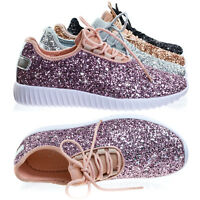 Remy18k Lace up Rock Glitter Fashion Sneaker For Children / Girl / Kids