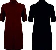 Ladies Funnel Neck Dress Ex Primark Maxi New Wool Jumper Dress Fine Knit Summer