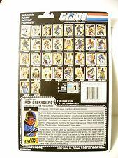 GI G I JOE IRON GRENADIERS 1988 ELITE TROOPERS FULLCARD FULL FILE CARD 88