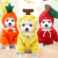 Cute Pet Dog Sweater Fruit Puppy Dogs Pullover Hooded Winter Warm Soft Clothing
