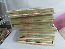 Weapons and Warfare encyclopedia book set 1969 21 books  Great vintage set