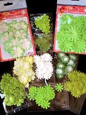 190 Flowers flower Lot assortment Green Handmade mulberry paper St Patrick's 16