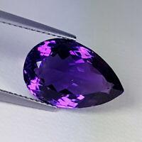Pear-Cut Natural Purple Amethyst 8.07ct