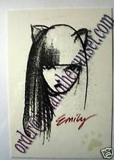 Emily the Strange Print Postcard Pencil Sketch Goth Emo