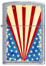 Zippo Grunge Flag Street Chrome Windproof Lighter RARE